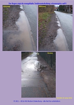 Mangelhafte Straßenunterhaltung in Drakenburg